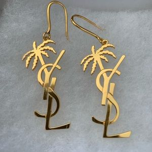 Authentic YSL Palm Tree Earrings
